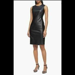 NWT Shelby & Palmer Faux Leather Dress, sz 8